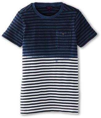 Paul Smith Delio Tee Shirt (Big Kids) (French Navy) - Apparel