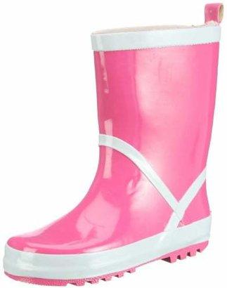 Playshoes Unisex-Child Wellies Basic Wellington Boots, White, Yellow