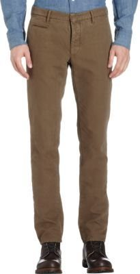 Incotex Micro-Herringbone Slim-Straight Pants