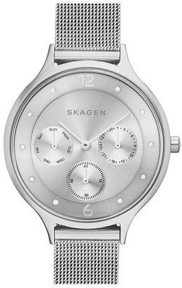 Women's Skagen 'Anita' Crystal Index Chronograph Mesh Strap Watch, 36Mm $145 thestylecure.com