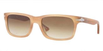 Persol Rectangular Plastic Sunglasses, Honey Havana Antique