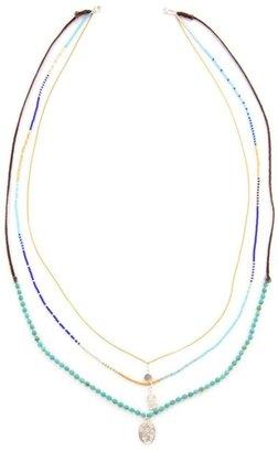 Chan Luu Turquoise Three-Strand Necklace