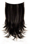 Ken Paves 22 Inch Clip-In Straight Extension - Midnight Brown