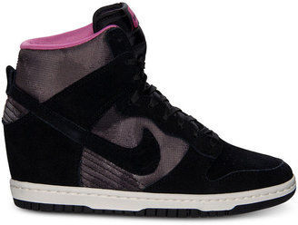 Nike Women's Dunk Sky Hi Print Casual Sneakers from Finish Line
