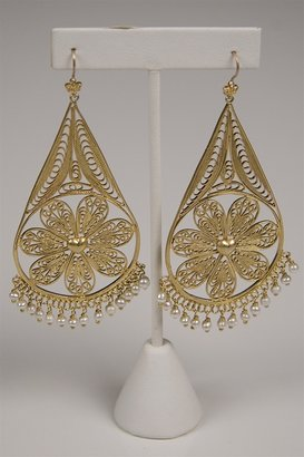Juicy Couture Filigree Teardrop Earring in Gold