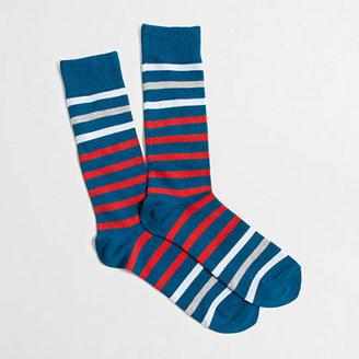 J.Crew Factory Contrast-stripe socks