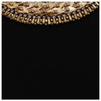 Alexander McQueen Embroidered Neckline Pencil Dress