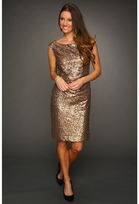 Vince Camuto Sequin Sheath Dress VC2T1817 (Gold) - Apparel