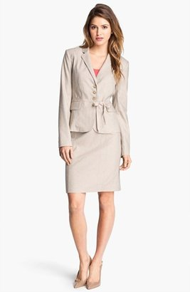 Halogen Herringbone Suit Skirt Khaki Combo 16