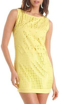Charlotte Russe Laser Cut Woven Shift Dress