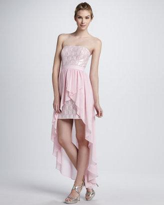 Aidan Mattox Aidan by Sequined Strapless Cocktail Dress