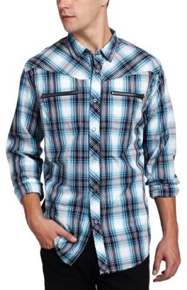Ecko Unlimited Men's Long Sleeve Ground Plaid Shirt