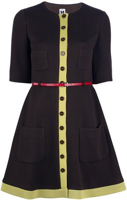 M Missoni Belted button dress