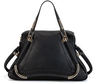 Chloé Paraty Bar-Trim Shoulder Bag, Black