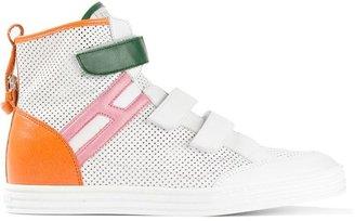 Hogan colour block hi-top sneakers