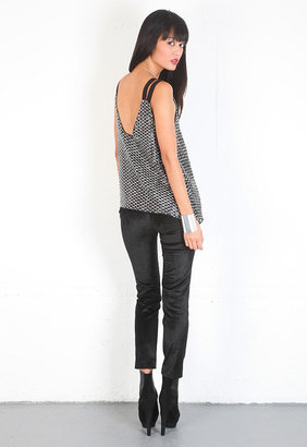 Parker Double Strap Top in Black -