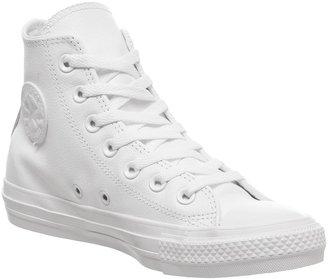 Converse Hi Leather White Mono