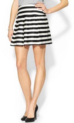 Pim + Larkin Striped Pleated Skirt