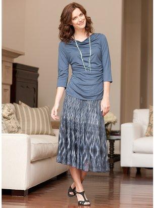 Coldwater Creek Ikat print knit skirt