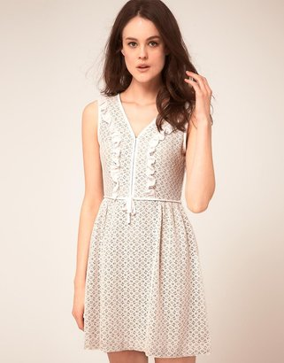 Jaeger Boutique By Lace Frill Shift Dress