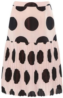 Marni Preorder Viscose Knit Dot Skirt