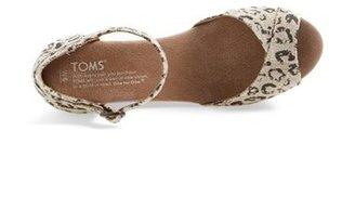 Toms Leopard Print Platform Wedge