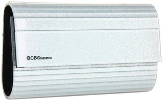 BCBGeneration Morgan Glitter Lucite Clutch (Silver) - Bags and Luggage