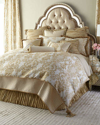 Austin Horn Collection King Antoinette Diamond-Stitch Coverlet