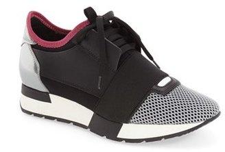 Balenciaga Mixed Media Trainer Sneaker (Women) $695 thestylecure.com