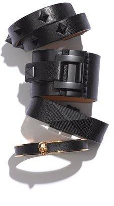 Vince Camuto 'Tour of Duty' Studded Buckle Wrap Bracelet