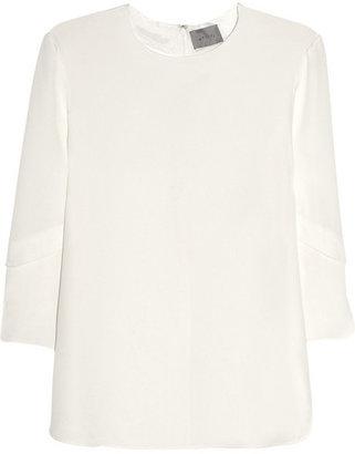 Maiyet Layered-sleeve silk tunic