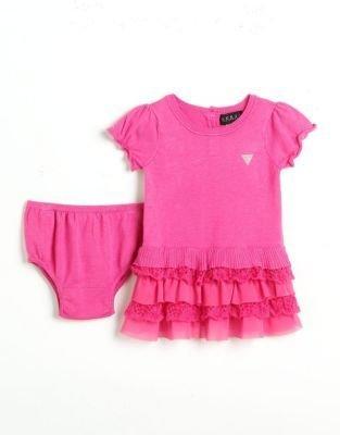 GUESS Girls 12-24 Months Ribbed Sweaterdress Set