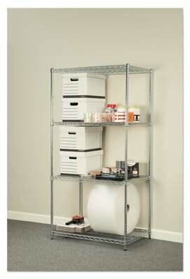 "Alera® 72"" H x 36"" W Industrial Heavy-Duty Wire Shelving Unit Starter Alera®"