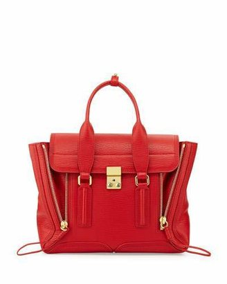 3.1 Phillip Lim Pashli Medium Zip Satchel Bag, Red $895 thestylecure.com