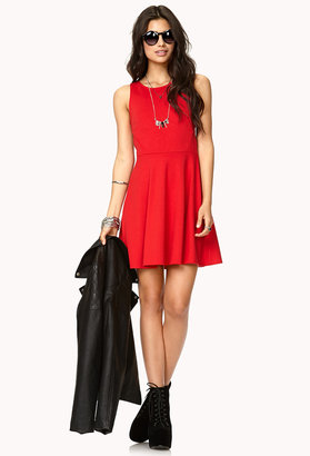 Forever 21 Eye-Catching Cutout Skater Dress