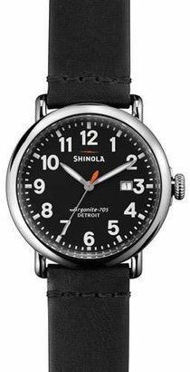 Shinola 41mm Runwell Leather Watch, Black $550 thestylecure.com