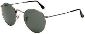 Ray-Ban ORB3447 029 Round Sunglasses,Gunmetal Frame/Crystal Green Lens,50 mm