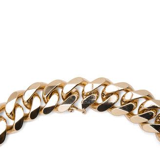 Iosselliani Multi Navettes Brass Shosrt Necklace in Multi