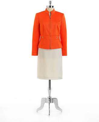 Tahari ARTHUR S. LEVINE Two-Piece Tailored Skirt Suit