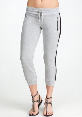 Bebe Logo Hanger Zipper Capri Pants