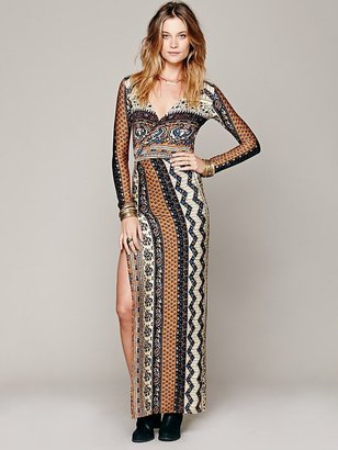 Free People Novella Royale Siren Print Maxi Dress