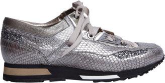 Lanvin Metallic Python Low-Top Sneaker