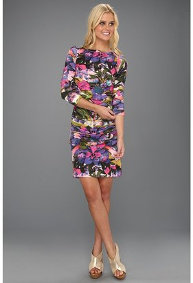 Nicole Miller L/S Hippie Dream Lycra Dress (Wistertia) - Apparel