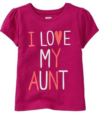 "Old Navy ""I ♥ My Aunt"" Tees for Baby"