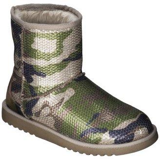 Xhilaration Women's Kalina Shearling Style Boot - Camo