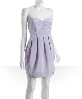 Shoshanna lilac cotton blend bengaline strapless 'Jane' party dress