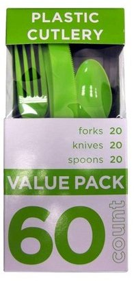 60ct Lime Green Cutlery