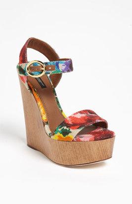 Dolce & Gabbana Floral Sandal
