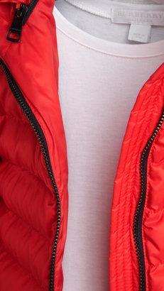 Burberry Down-Filled Peplum Puffer Jacket