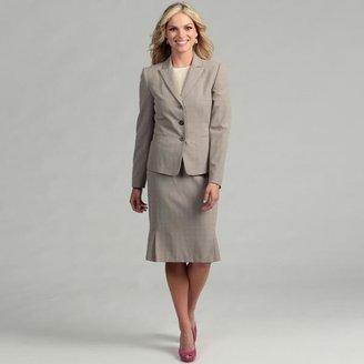 Tahari Women's Tan/ Off-white 3-button Skirt Suit $43.49 thestylecure.com
